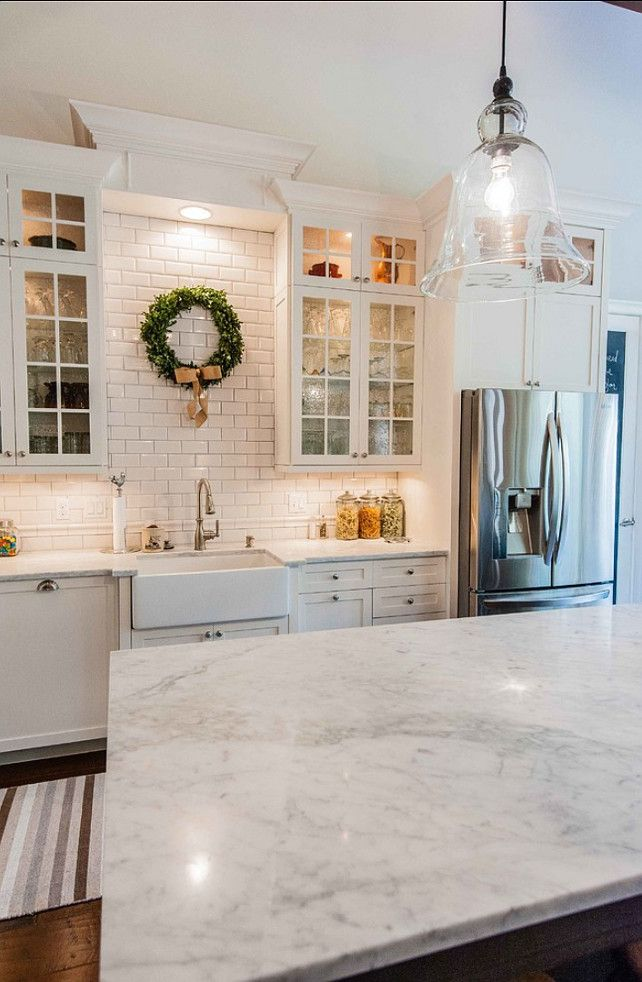 Classic Kitchen with Marble Countertop and Backsplash ideas