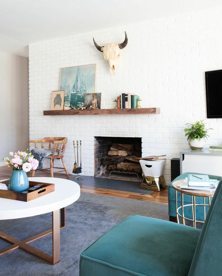 Mid Century Modern Living Room with Wood Paneling Ideas