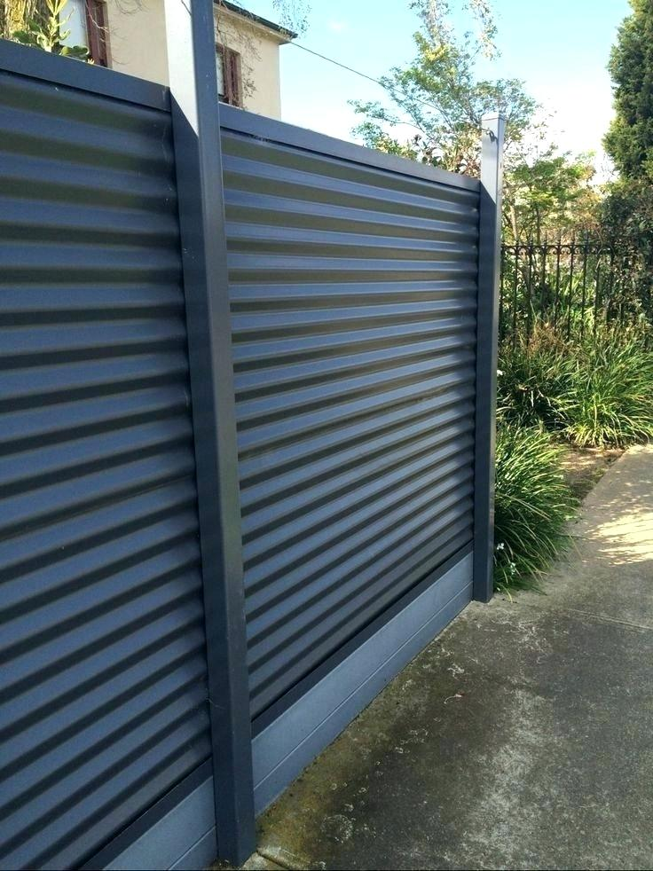 Privacy Fence from Corrugated Metal