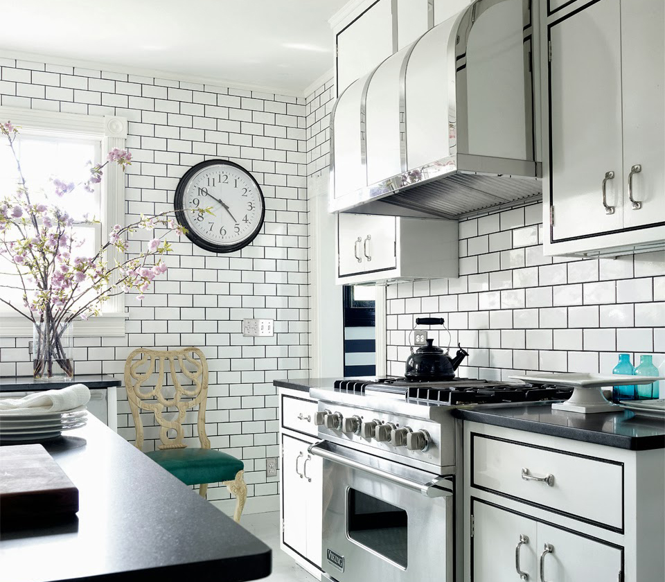 Small One Wall Kitchen with Subway Tiles Backsplash ideas