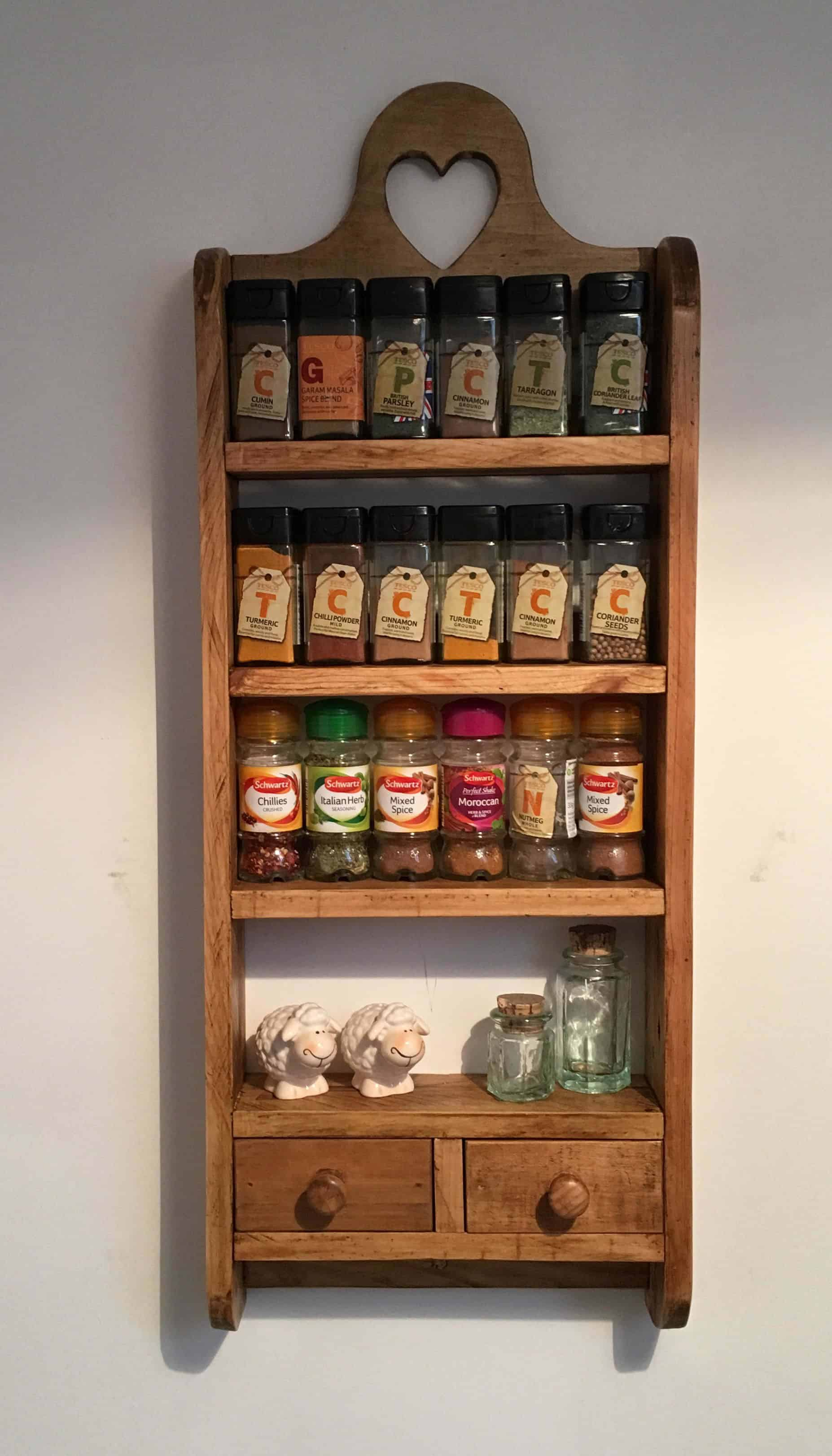 Spice Rack from Pallet Ideas