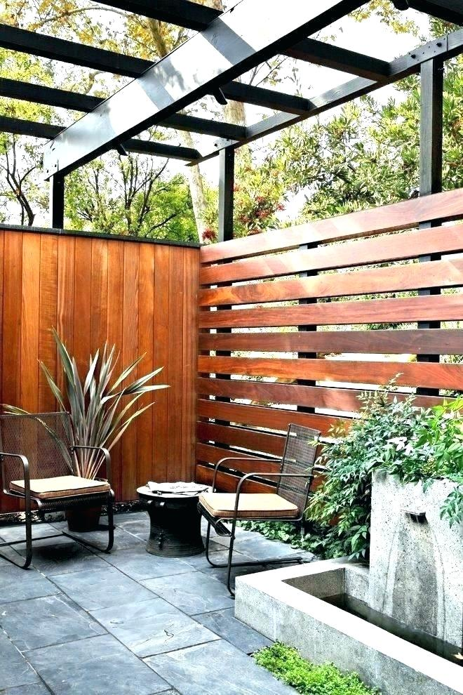 Wood Slats for Patio Privacy Ideas