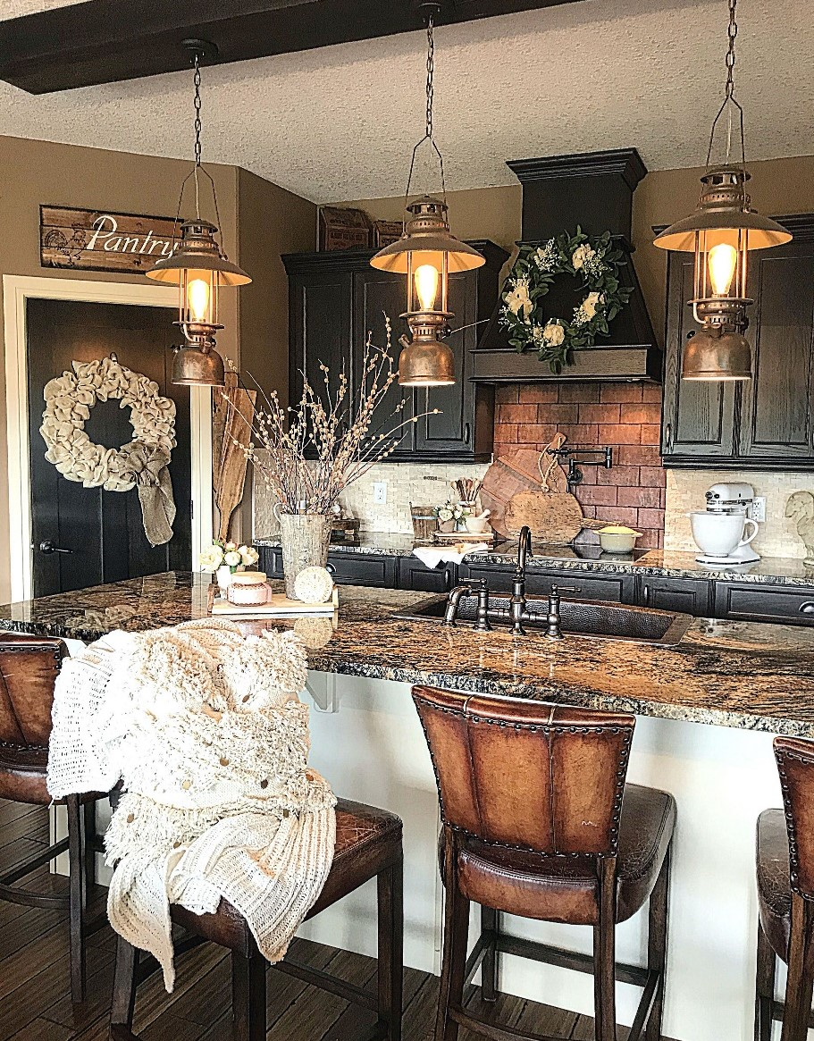 Kitchen Cabinet in Rustic Classic Style