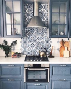 Blue Kitchen Cabinets