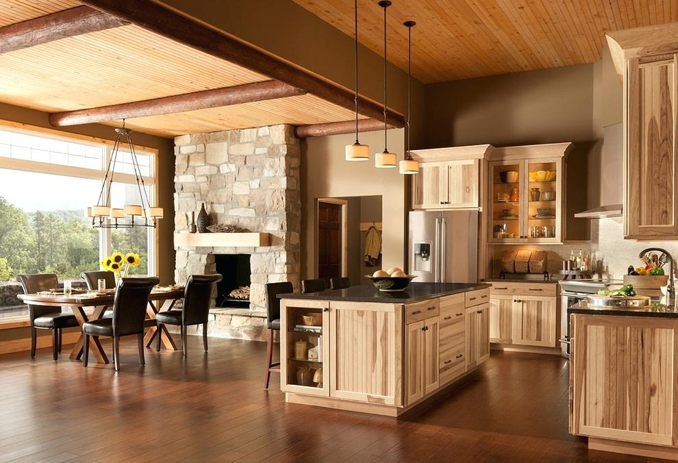 Hickory Kitchen Cabinet