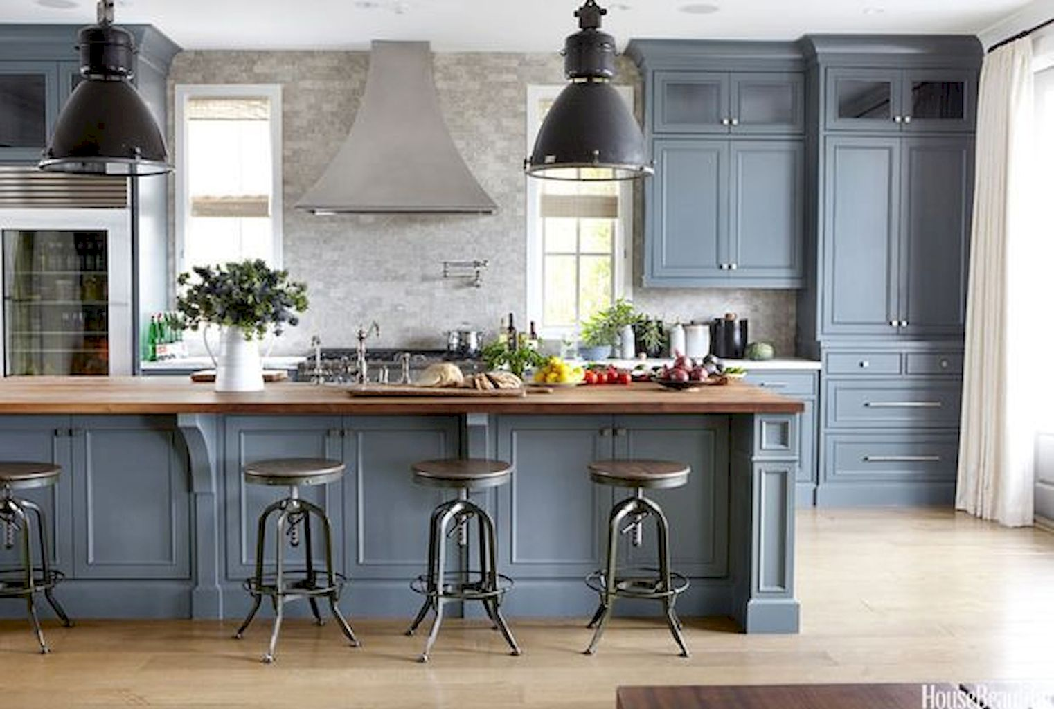 Blue and Gray Kitchen Theme