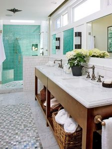 beach blue bathroom