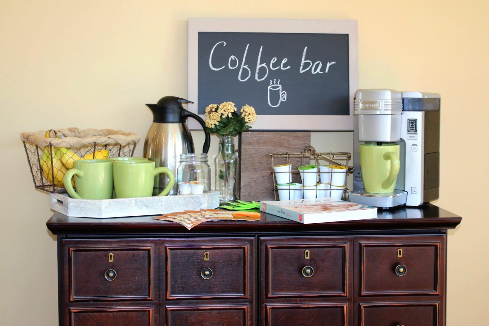 coffee station cabinet