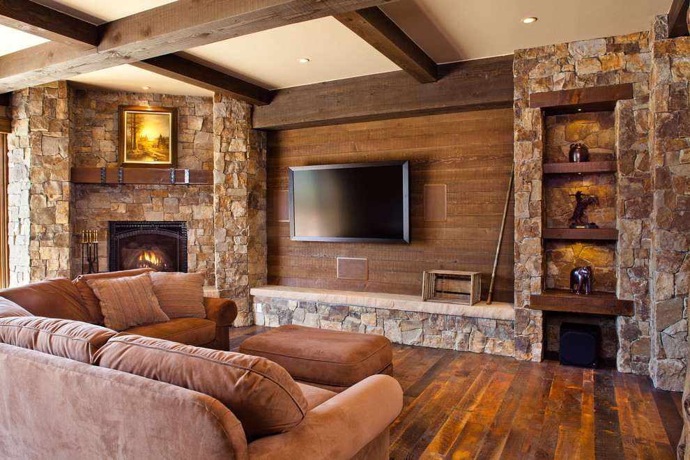 corner fireplace and tv placement