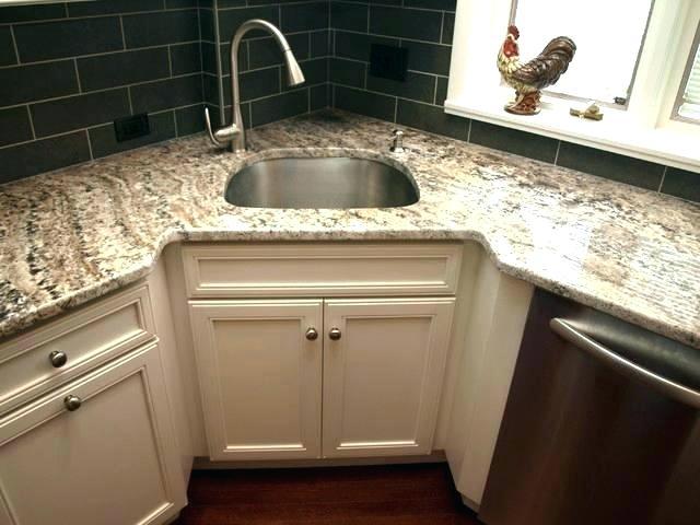corner kitchen sink size
