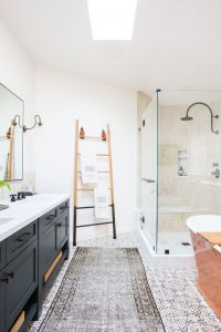 farmhouse bathroom before and after
