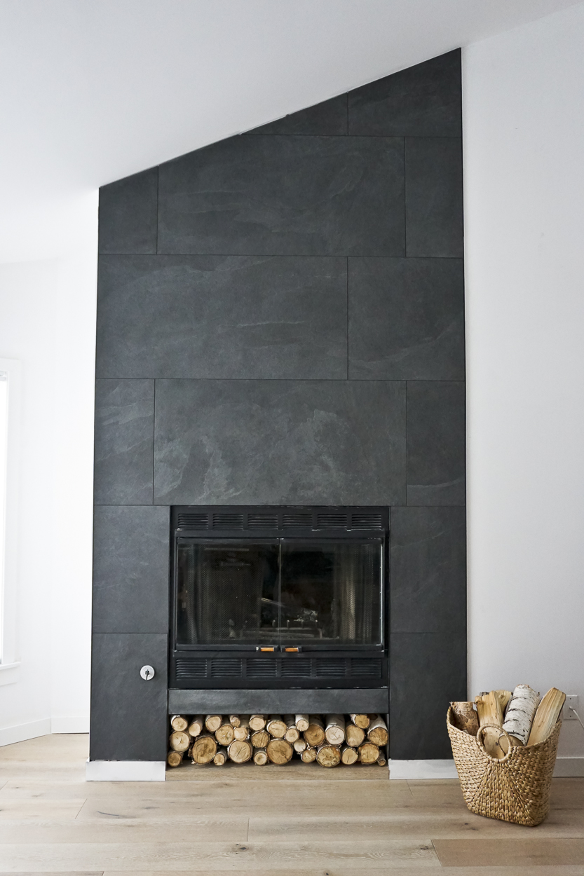 fireplace keystone tile