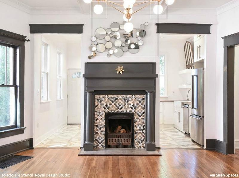 fireplace tile modern
