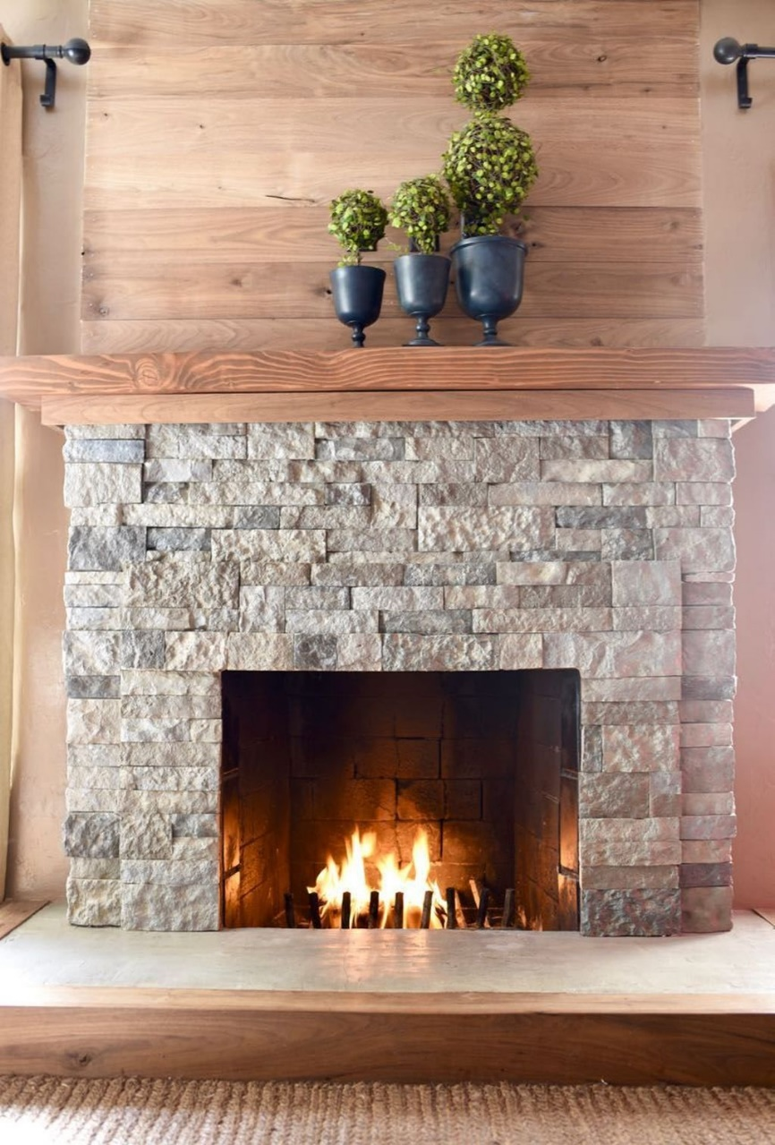 fireplace tile trim kit