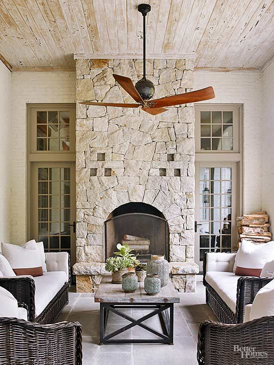 fireplace tile layout