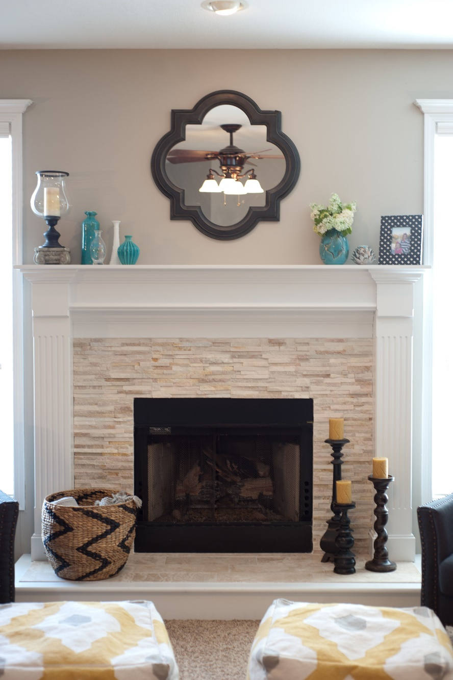 fireplace tile kit
