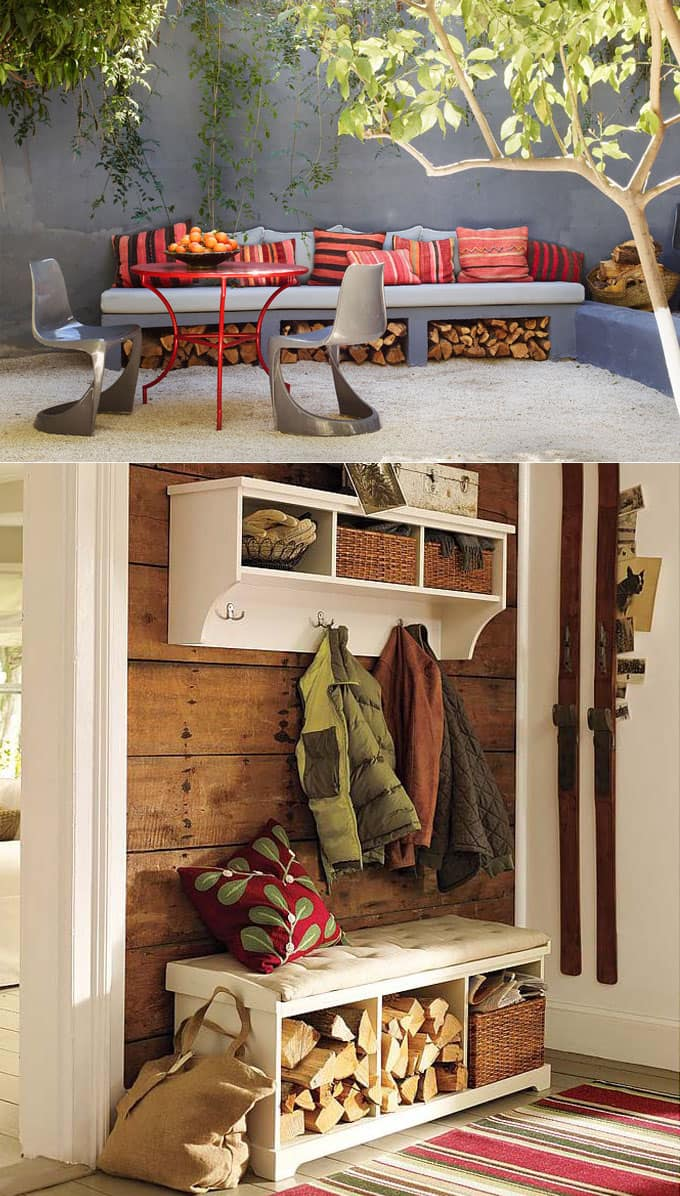 outdoor firewood storage units