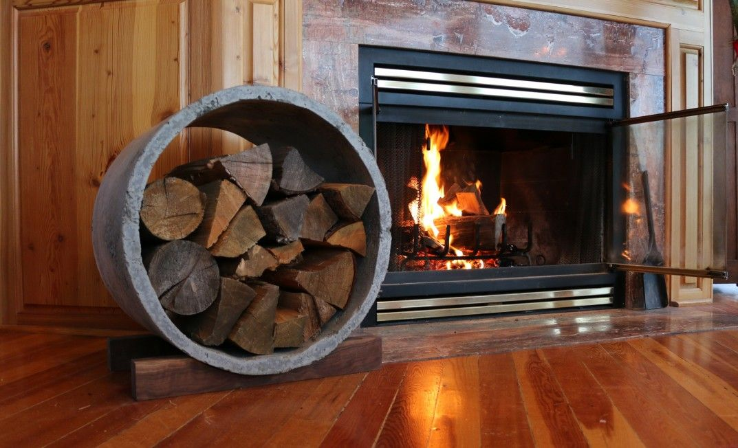 firewood storage with cover