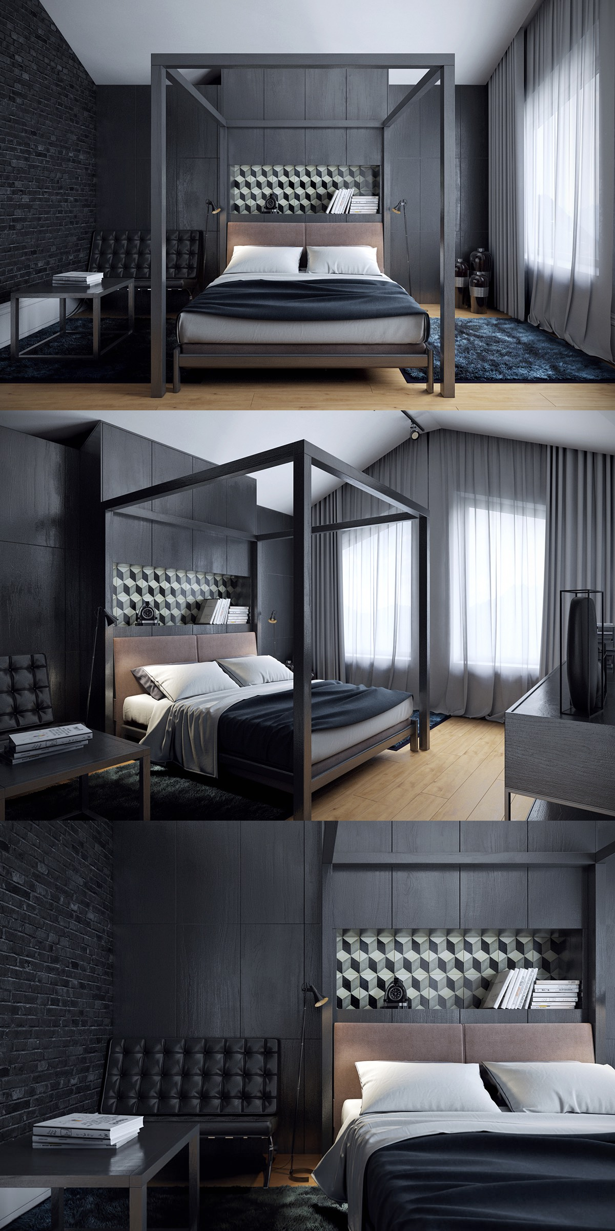 gothic chic bedroom