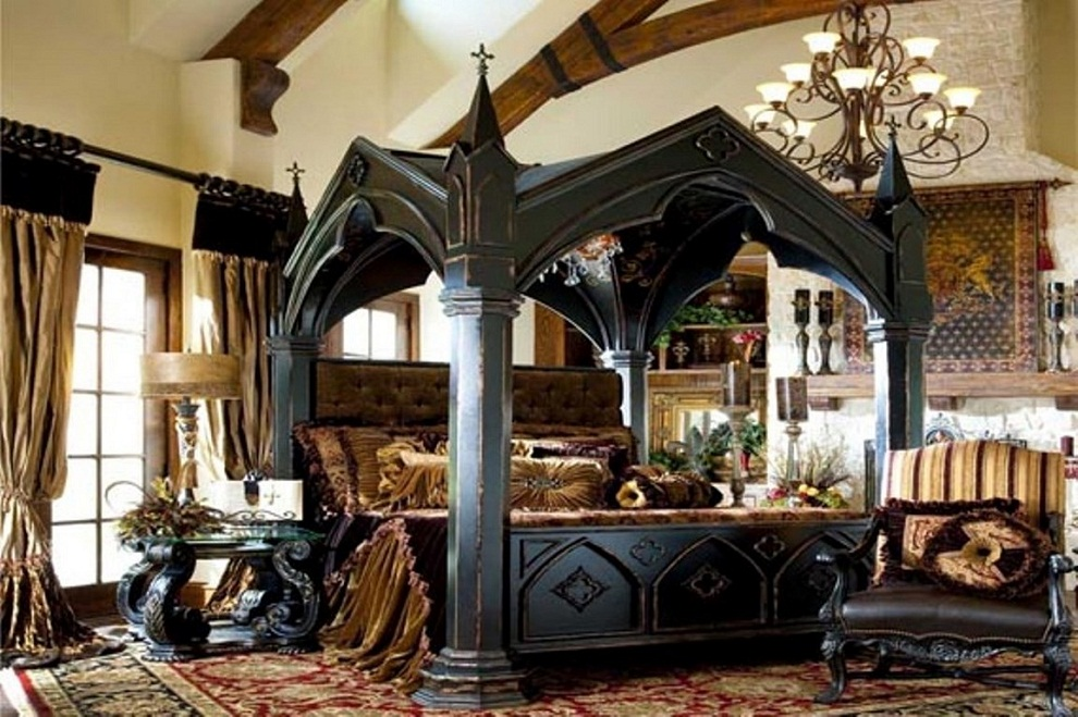 how to decorate a gothic bedroom