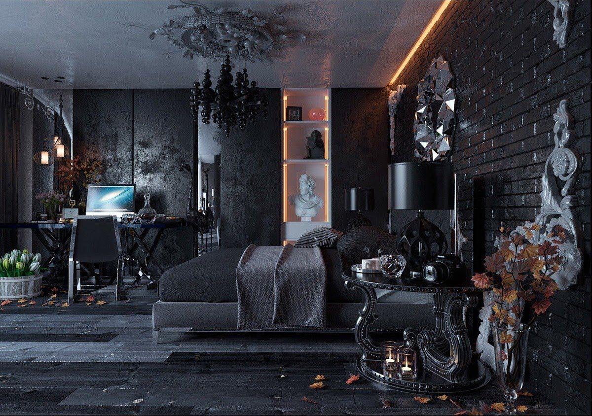 gothic boho bedroom
