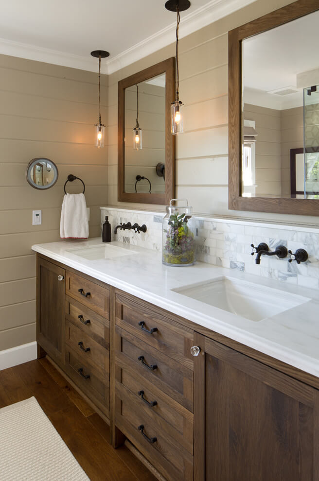 pictures of a farmhouse bathroom