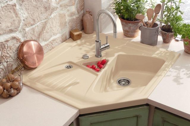 rounded corner kitchen sink
