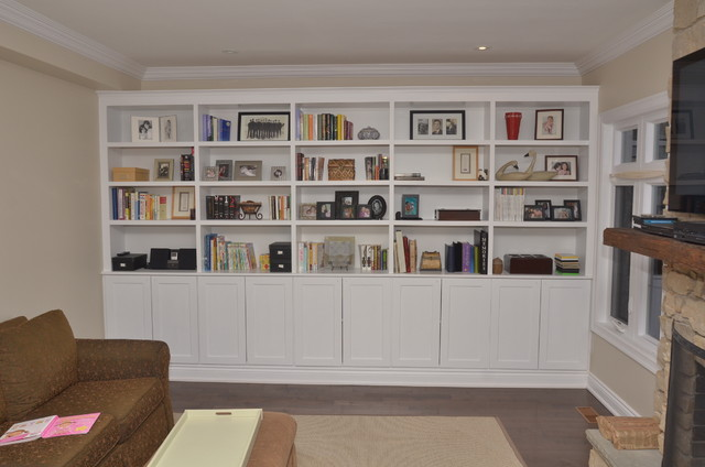 living room alcove storage ideas