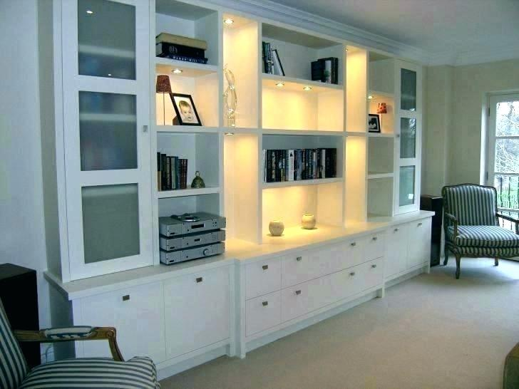 living room storage black