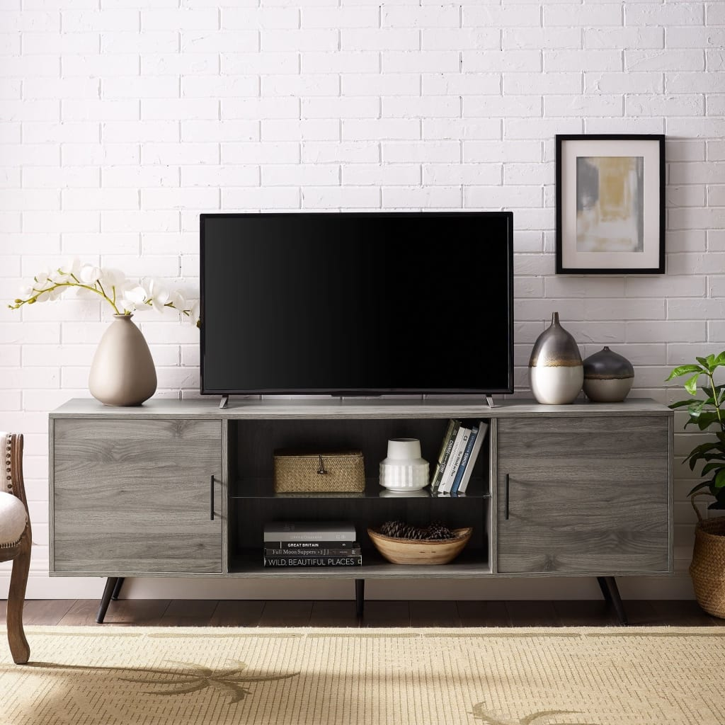 target mid century modern tv stand