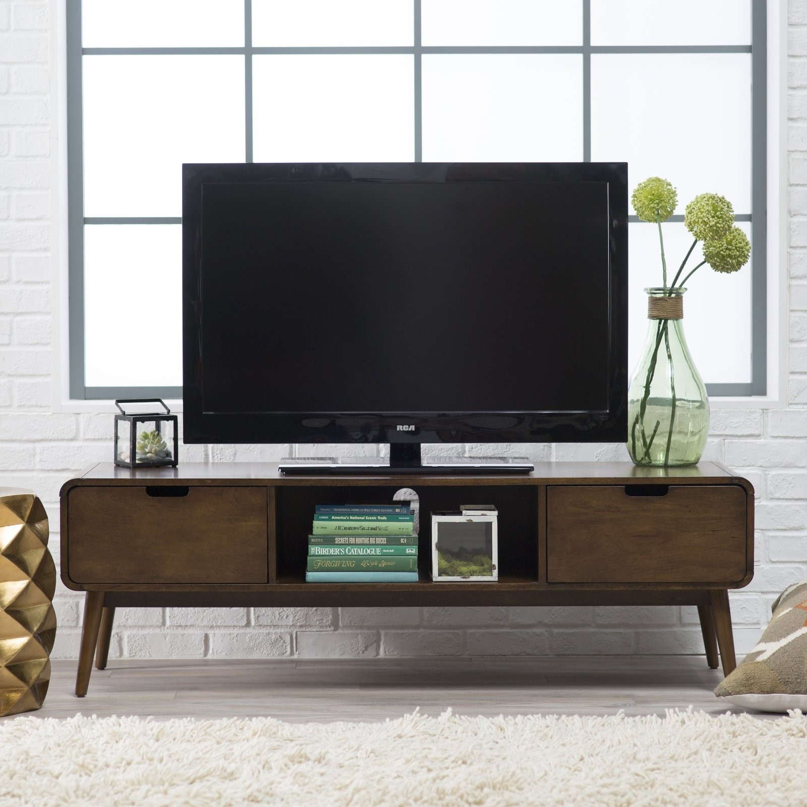 modern tv stand with fireplace