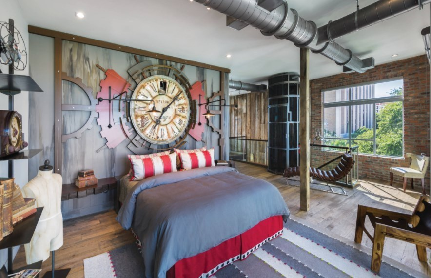 steampunk apartment decor