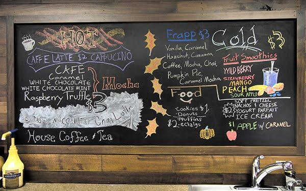 the coffee station menu