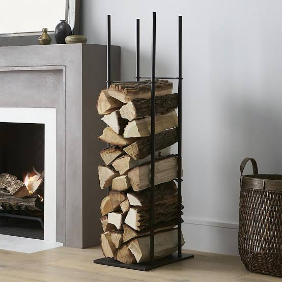 vertical firewood storage