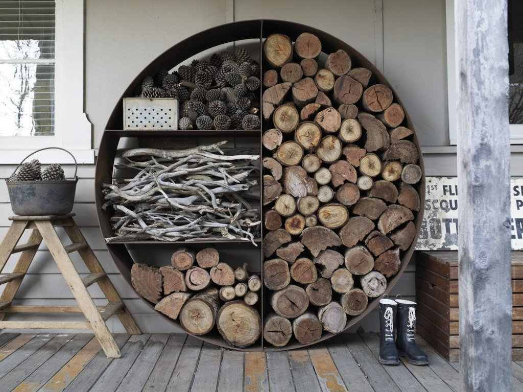 indoor firewood storage units