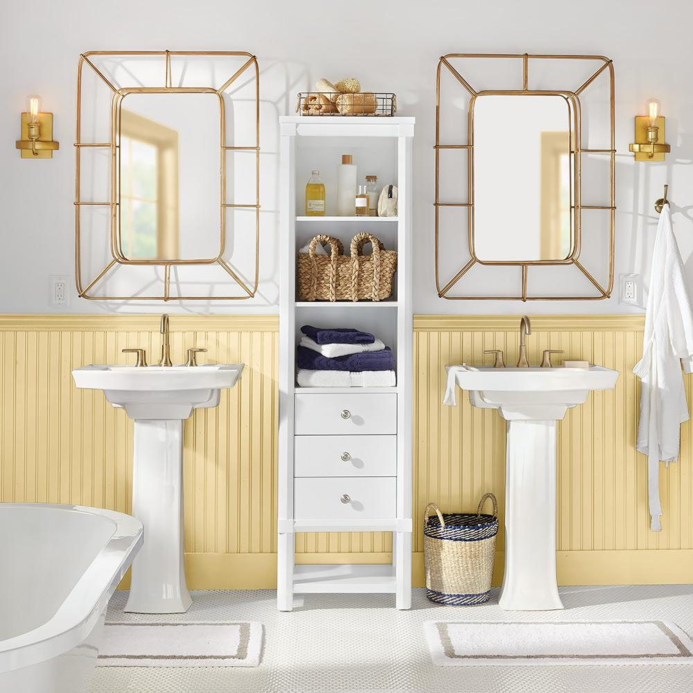 wainscoting bathroom vanity