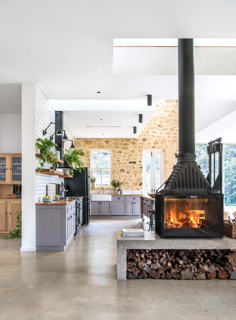double sided fireplace gold coast
