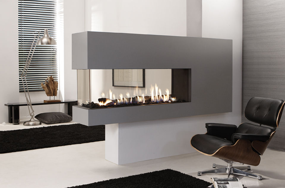 double sided fireplace smoke in house
