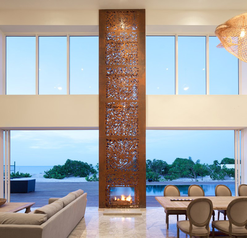 double sided fireplace images