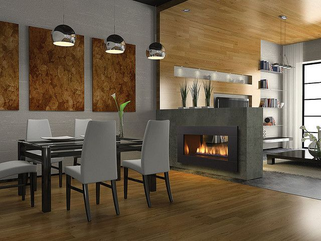 double sided fireplace kit