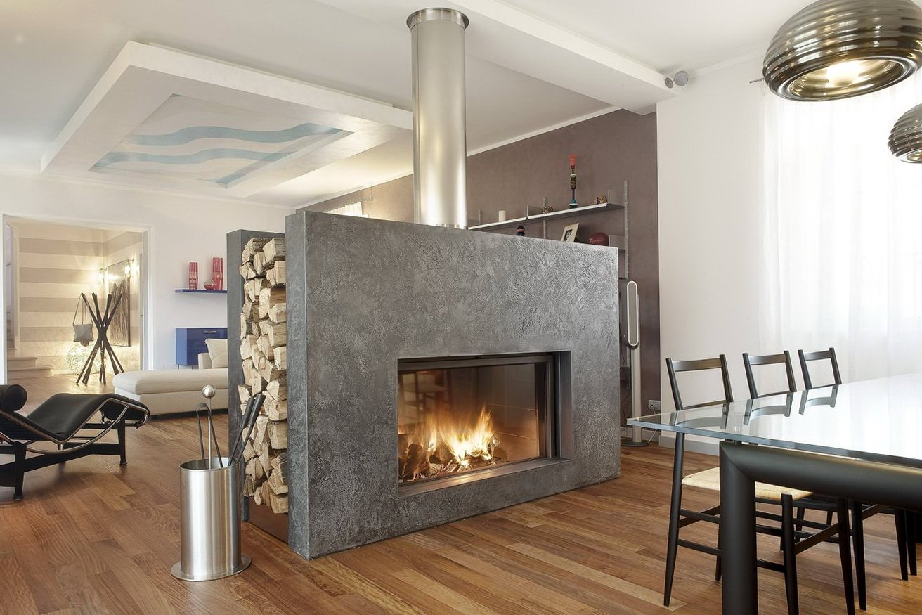 kemlan coupe double sided fireplace