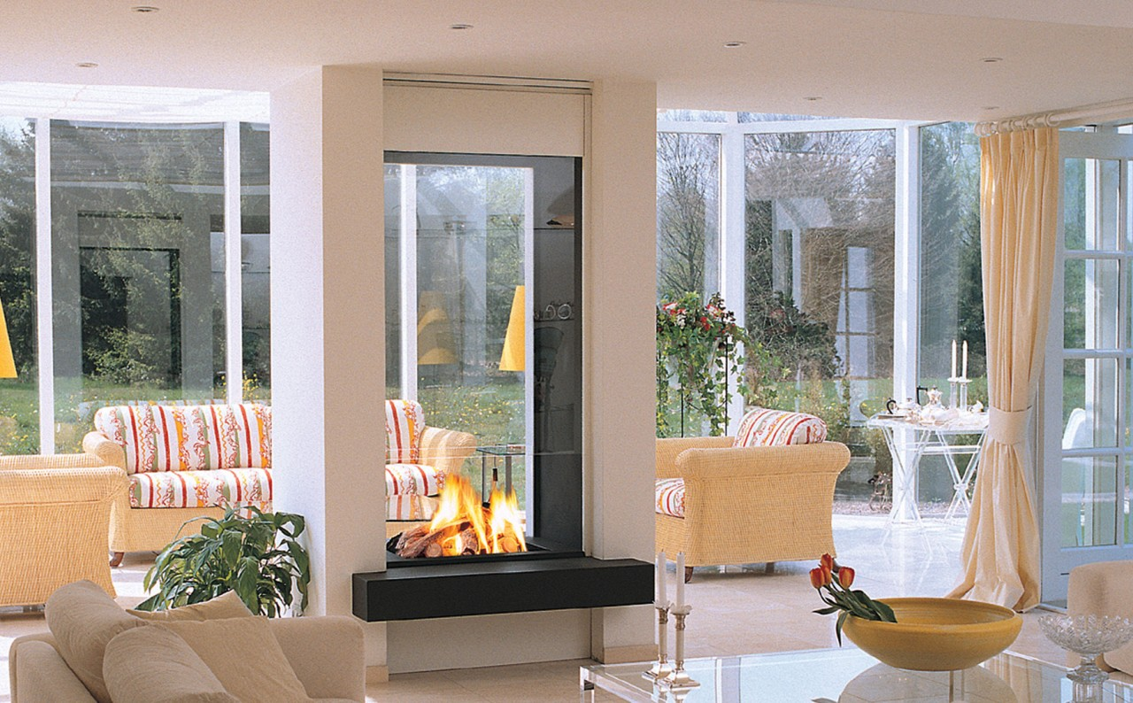 jetmaster double sided gas fireplace