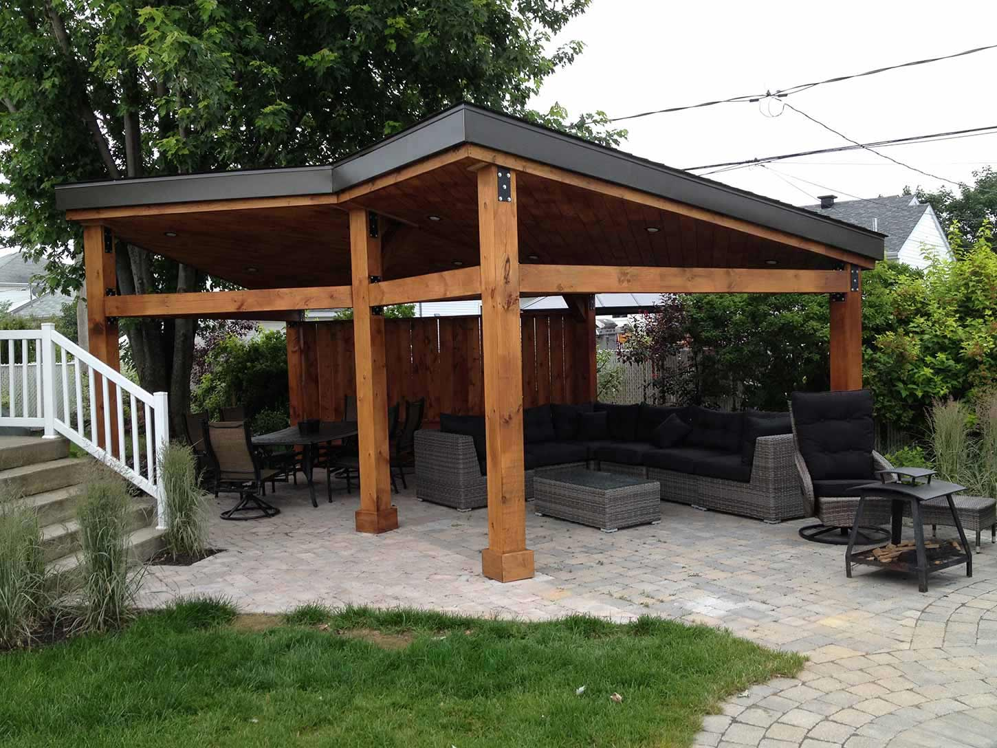 gazebo blind ideas