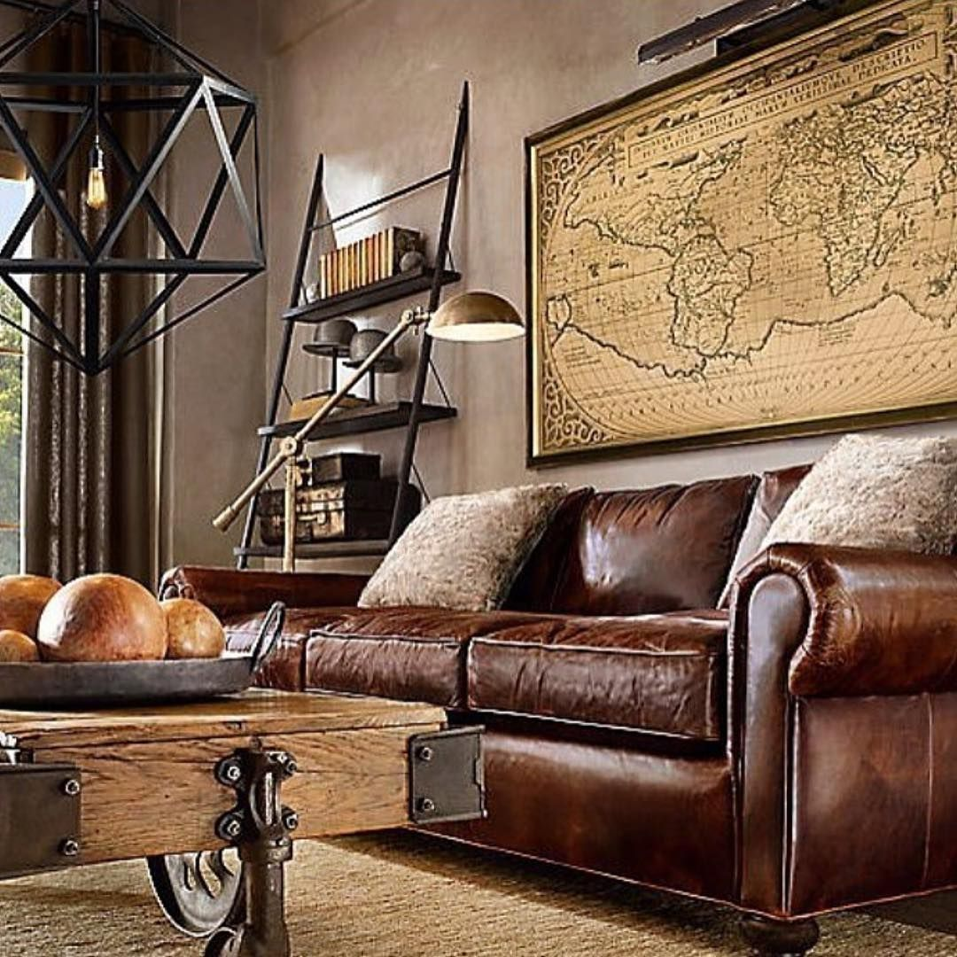 industrial living room photos