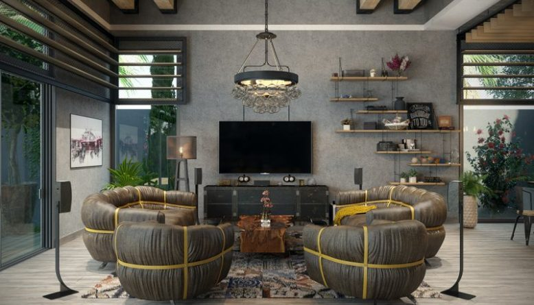 industrial living room pictures