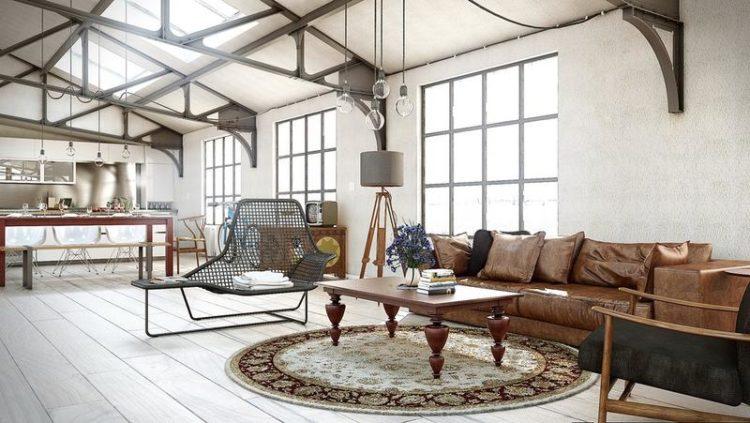 industrial living room sofa