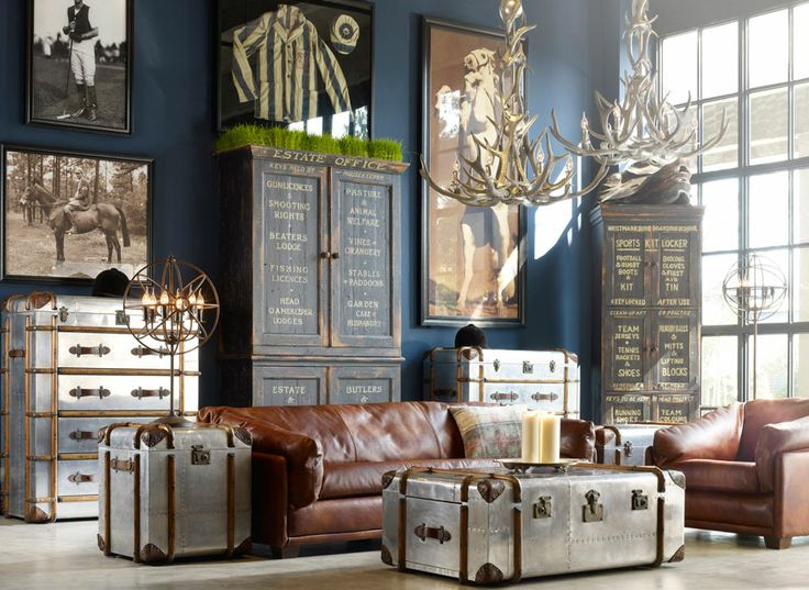 industrial living room style