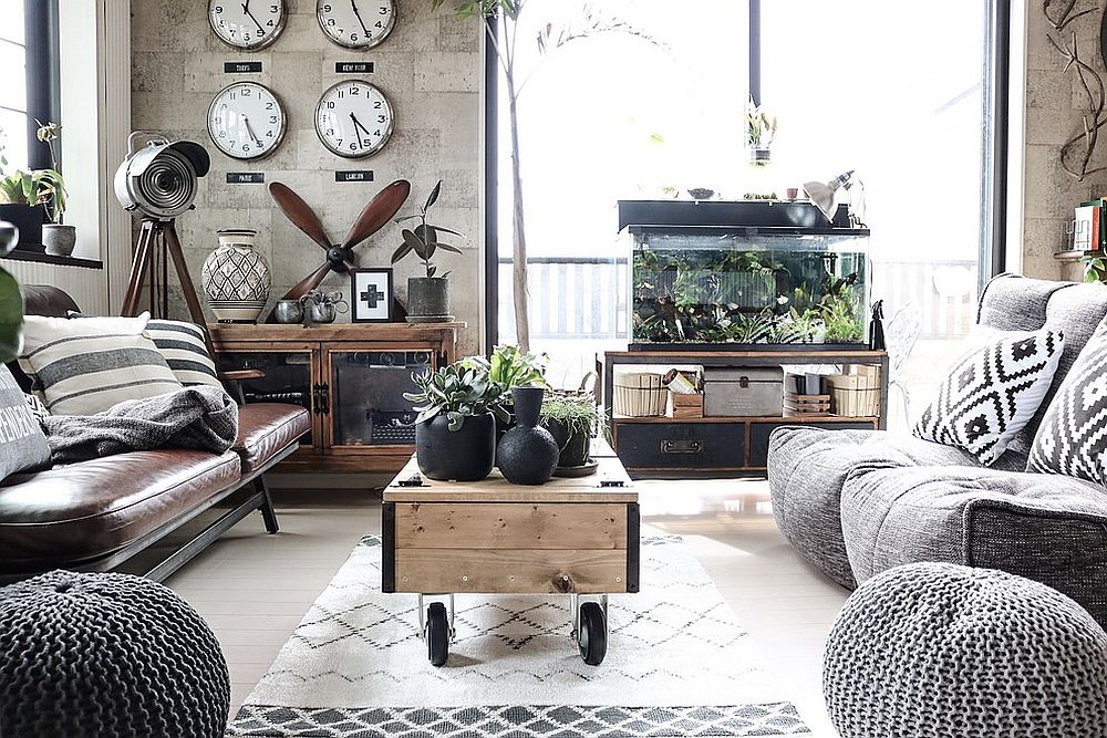 industrial style living room tables