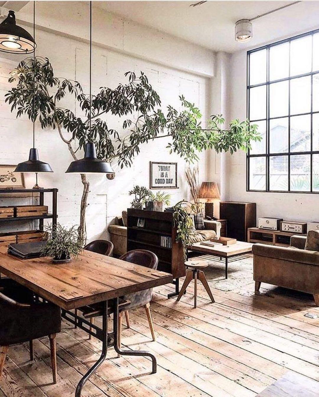 industrial style living room rug