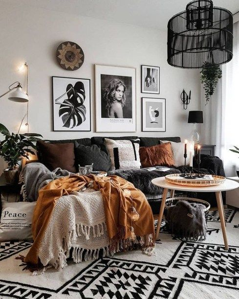 tribal eclectic living room